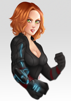 Black Widow Speed paint by TheDody36