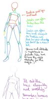 fashion design body tutorial. by Kashirohato