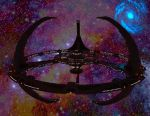 Deep Space 9 with wormhole by MurbyTrek