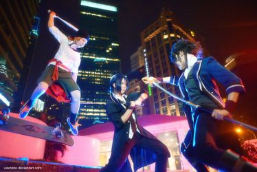K Project - Three Way Battle by vaxzone