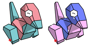 Pokemon #137 - Porygon by Fyreglyphs