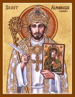 St. Alphonsus Liguori icon by Theophilia