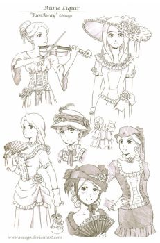 Aurie sketches 2 by meago