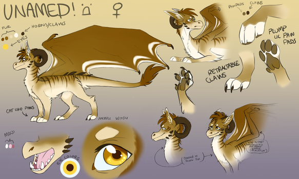 [Unnamed Dragoness] Reference Sheet by aacrell