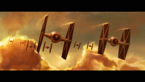 Tie Fighter Patrol over Bespin by TheFirstAngel
