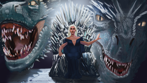 Daenerys Targaryen on the Iron Throne by Bloody-Dingo