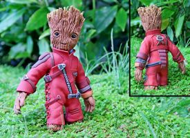 Groot  (Polymer Clay Sculpture ) by Claysan