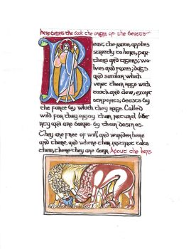 Repro of Medieval Document by Faerybug