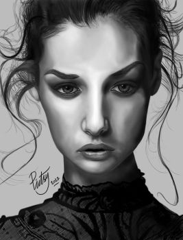 FACE STUDY #4 by pictsy