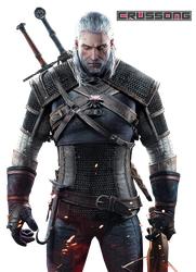 The Witcher 3: Wild Hunt - Geralt of Rivia Render by Crussong