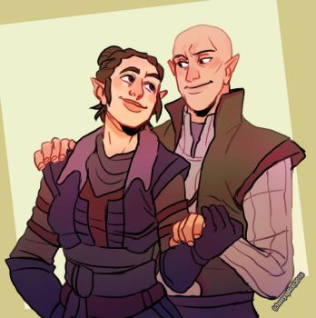 COMM: Elizabeth and Solas by cherrysplice