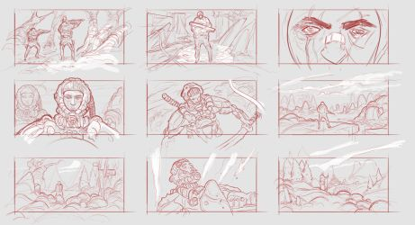 Thumbnail Sketches by SamTheConceptArtist