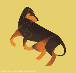 Year of the Dog - Montenegrin Mountain Hound by Kelgrid
