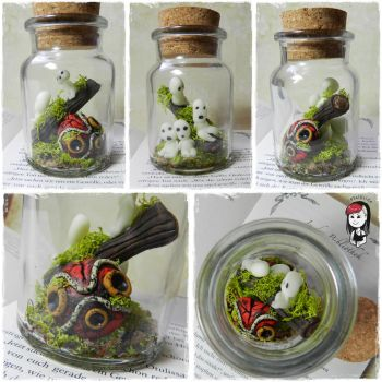 Princess Mononoke Jar by oOMetalbrideOo
