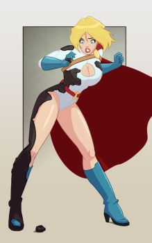 Power Girl Statue Commission by Mro16