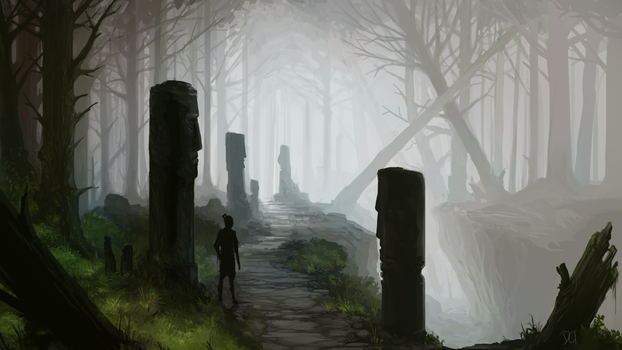 Forestpath by junon