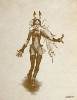 Final Fantasy 12 Fran quick sketch by LuisaChu
