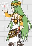 Commission: Palutena the Hieroglyph by P1nkApple