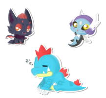 [PKMNation] Chibi Commission #3 by RENA-LOVES-LUCA