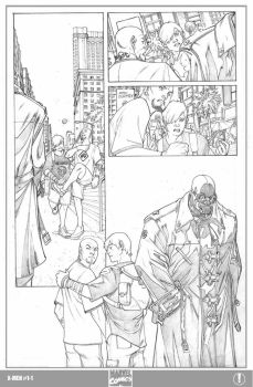 X-men 1 Page 1 pencils by ElVlasco
