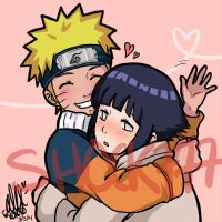 Naruhina Cuddles by shock777