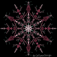 Pink Crystal Blossoms by CatSpaceDesign