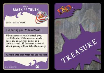 Mask of Truth (Treasure Card) by 001rich100