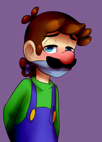 Tied Up Luigi by BaconBloodFire