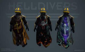 Helldivers - Faction Specific Capes by OskarKuijken