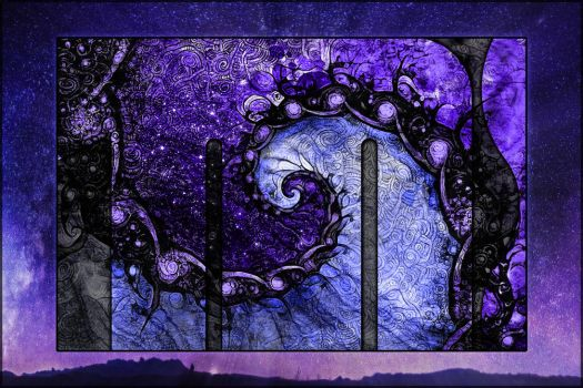 Beautiful Fractal Painting -- Nocturne of Scorpio by jayaprime