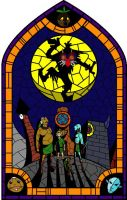 Stained Glass: Majora's Mask by Rebonack