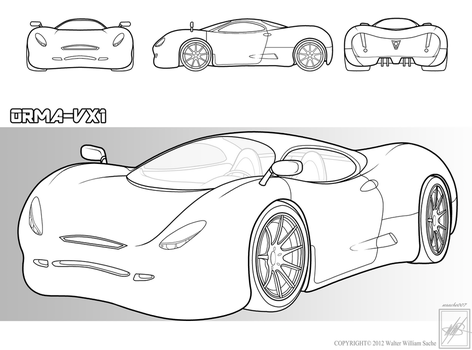 Concept car____drawing by wsache007