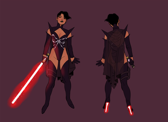 me as a sith babe by wiccimm