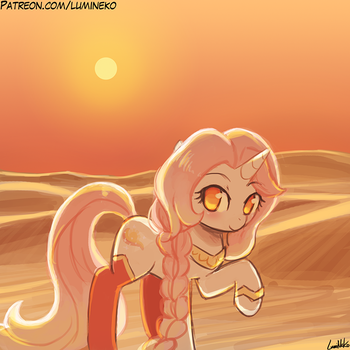 Speed Paint - Sahara Sunset by luminaura