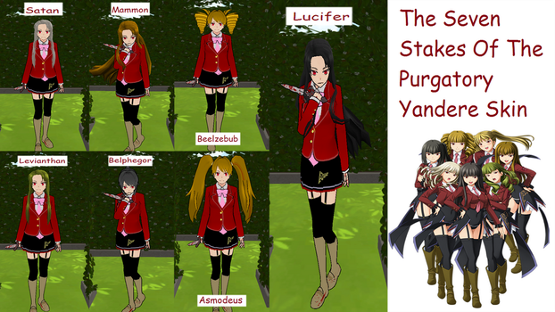 The Seven Stakes Of The Purgatory Yandere Skins by yandereskins050802