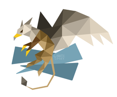 Soaring Griffin by ChaoticEdges