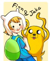 Doodle AT Finn and Jake by zeneria29