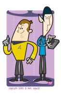 Capt James T Kirk n' Mr Spock by Montygog