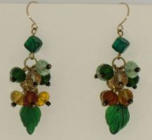 St Patrick's Day earrings by Catgoyle