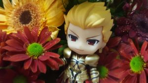 GoldKing Gilgamesh with BeautyfulFlowers [P2] by ng9