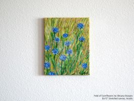 Field of Cornflowers, stand back view by NoirArt
