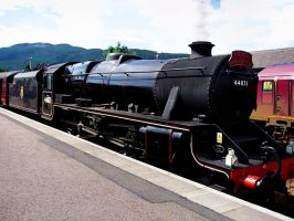 Jacobite Steam Train by cemacStock