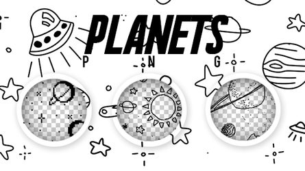 PLANETS PNG by SabDesings