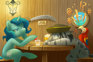 Visit to the Rusty Bucket by Pixel-Prism