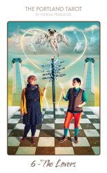 06-the-portland-tarot-the-lovers-theresa-pridemore by maniphisto