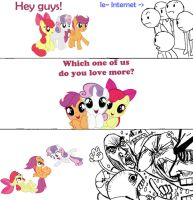 Which one of us do you love more? by KnifeH