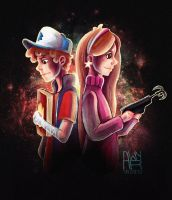 Dipper and Mayble by AwyrGreen