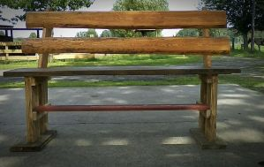 Wood bench by poisen2014