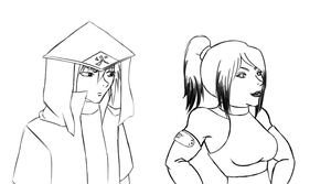 AT - Sarah and Hokage Sasu by Aisuryuu