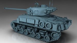 Sherman Tank M-51 by Akaime83